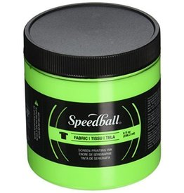 SPEEDBALL INC SPEEDBALL FABRIC SCREEN PRINTING INK FLUORESCENT LIME GREEN 8OZ