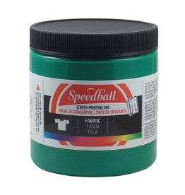 SPEEDBALL INC SPEEDBALL FABRIC SCREEN PRINTING INK GREEN 8OZ
