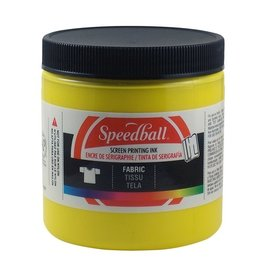SPEEDBALL INC SPEEDBALL FABRIC SCREEN PRINTING INK YELLOW 8OZ