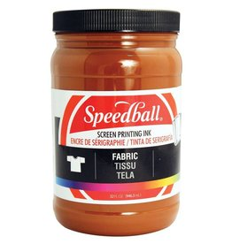 SPEEDBALL INC SPEEDBALL FABRIC SCREEN PRINTING INK BROWN 32OZ