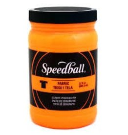 SPEEDBALL INC SPEEDBALL FABRIC SCREEN PRINTING INK FLUORESCENT ORANGE 32OZ