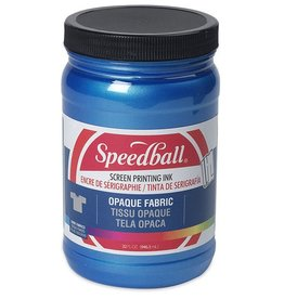 SPEEDBALL INC SPEEDBALL OPAQUE FABRIC SCREEN PRINTING INK BLUE TOPAZ 32OZ