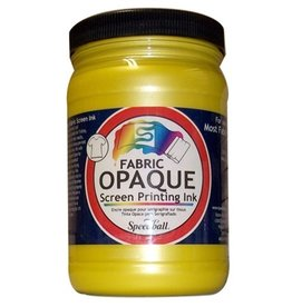 SPEEDBALL INC SPEEDBALL OPAQUE FABRIC SCREEN PRINTING INK CITRINE 32OZ