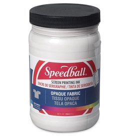 SPEEDBALL INC SPEEDBALL OPAQUE FABRIC SCREEN PRINTING INK PEARLY WHITE 32OZ