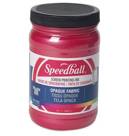 SPEEDBALL INC SPEEDBALL OPAQUE FABRIC SCREEN PRINTING INK RASPBERRY 32OZ
