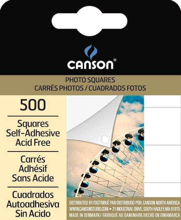 CANSON CANSON PHOTO SQUARES SELF-ADHESIVE 500/PK    CAN-100510369