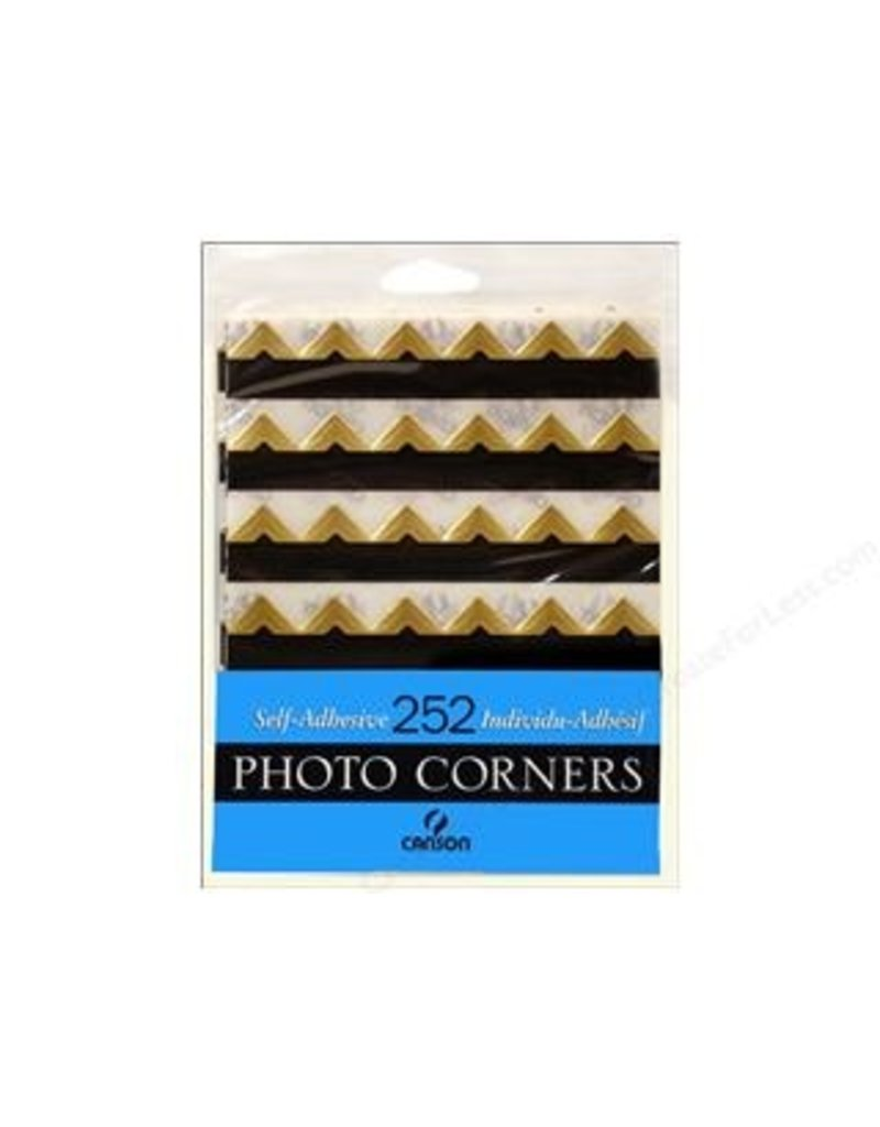 CANSON CANSON PHOTO CORNERS SELF-ADHESIVE GOLD 252/PK    CAN-100510401
