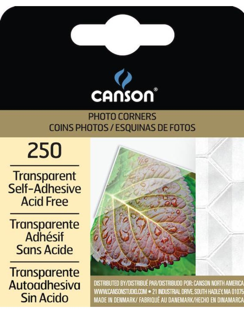 CANSON CANSON PHOTO CORNERS SELF-ADHESIVE TRANSPARENT 250/PK    CAN-100510368