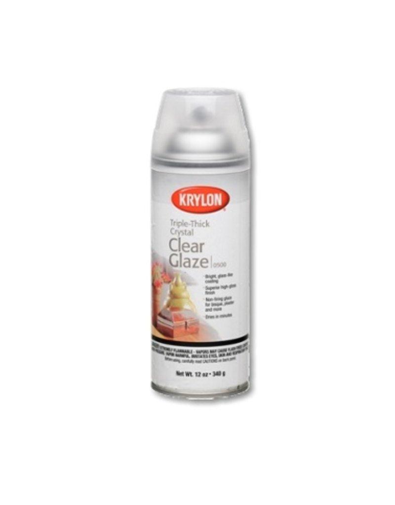 KRYLON KRYLON TRIPLE THICK CRYSTAL CLEAR GLAZE 12OZ    0500