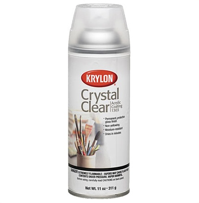 KRYLON KRYLON CRYSTAL CLEAR ACRYLIC COATING 11OZ    1303
