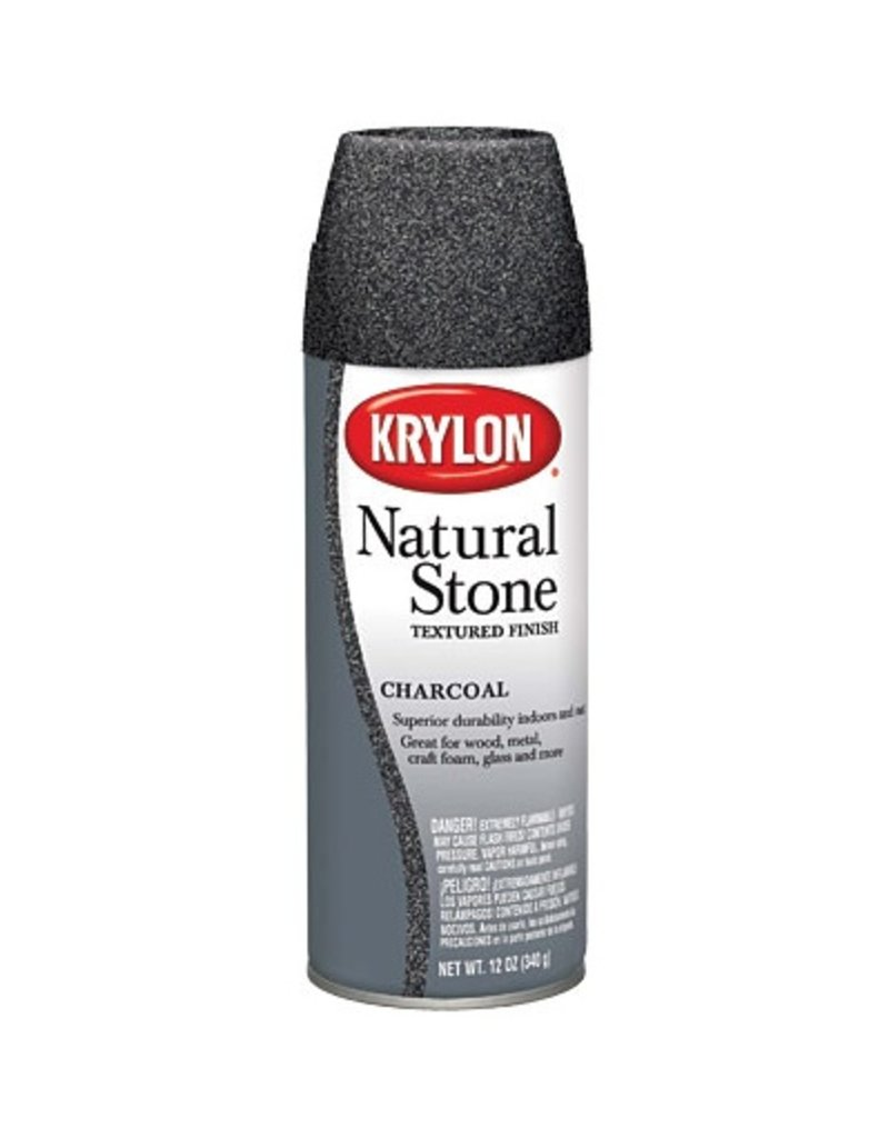 KRYLON KRYLON NATURAL STONE SPRAY CHARCOAL 12OZ