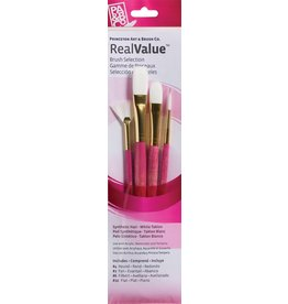 PRINCETON PRINCETON REALVALUE BRUSH SET NO. 9182 SH WHITE TAKLON
