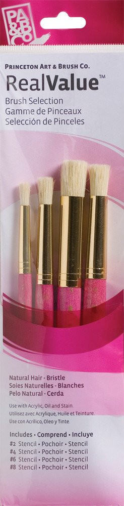 PRINCETON PRINCETON REALVALUE BRUSH SET NO. 9180 SH NATURAL BRISTLE