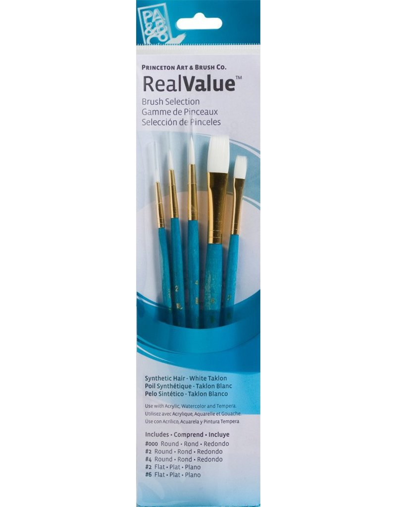 PRINCETON PRINCETON REALVALUE BRUSH SET NO. 9174 SH WHITE TAKLON