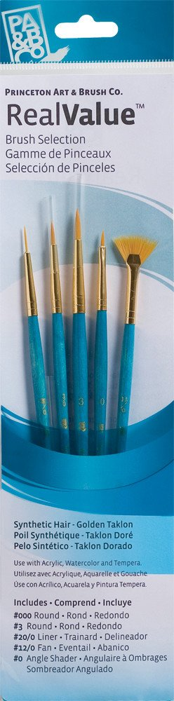 PRINCETON PRINCETON REALVALUE BRUSH SET NO. 9170 SH GOLD TAKLON