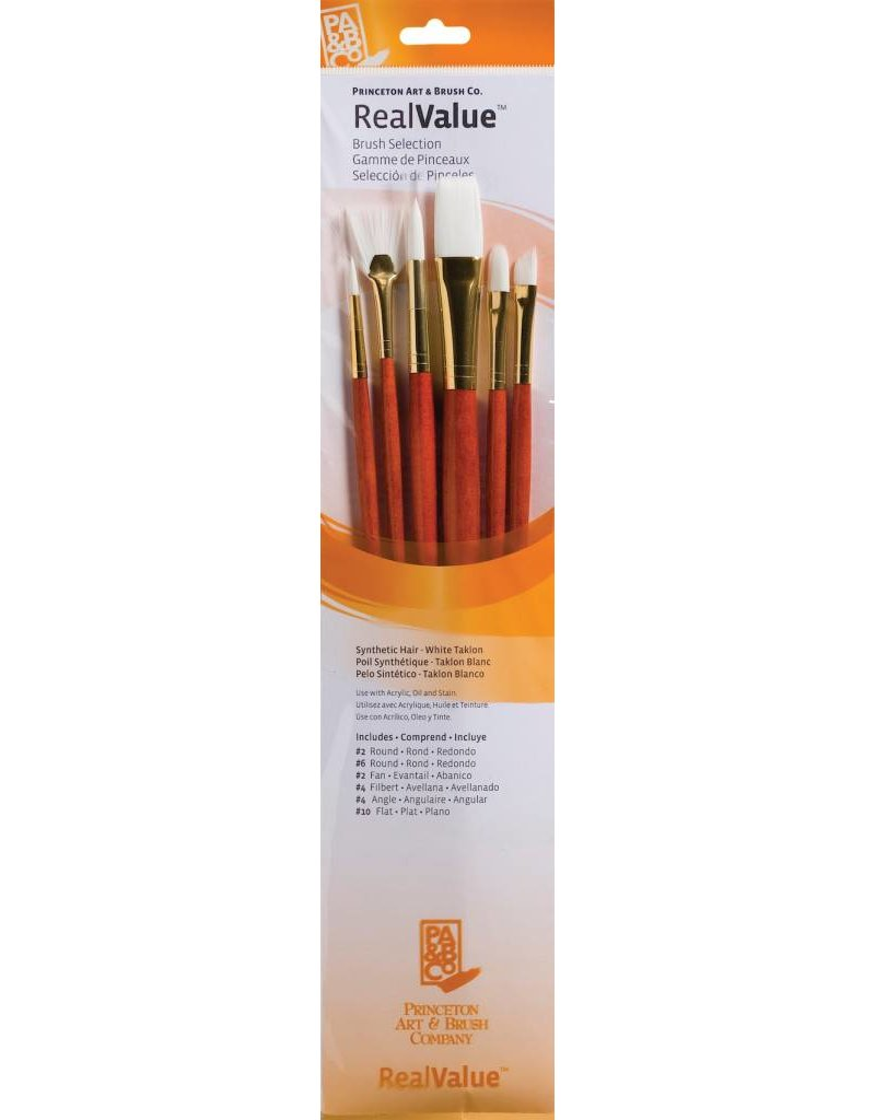 PRINCETON PRINCETON REALVALUE BRUSH SET NO. 9156 LH WHITE TAKLON