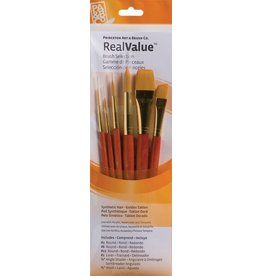 PRINCETON PRINCETON REALVALUE BRUSH SET NO. 9153 SH GOLD TAKLON