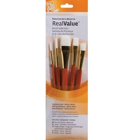PRINCETON PRINCETON REALVALUE BRUSH SET NO. 9151 SH WHITE TAKLON