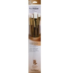 PRINCETON PRINCETON REALVALUE BRUSH SET NO. 9147 LH WHITE TAKLON