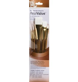 PRINCETON PRINCETON REALVALUE BRUSH SET NO. 9144 SH WHITE TAKLON