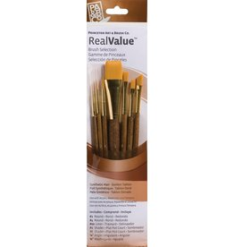 PRINCETON PRINCETON REALVALUE BRUSH SET NO. 9143 SH GOLD TAKLON