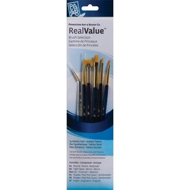 PRINCETON PRINCETON REALVALUE BRUSH SET NO. 9133 SH GOLD TAKLON