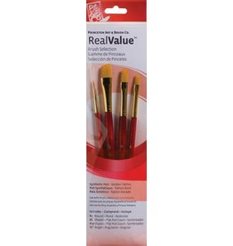 PRINCETON PRINCETON REALVALUE BRUSH SET NO. 9123 SH GOLD TAKLON
