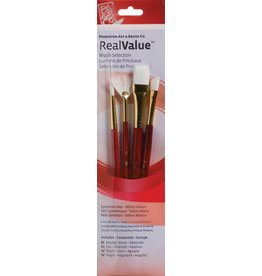 PRINCETON PRINCETON REALVALUE BRUSH SET NO. 9120 SH WHITE TAKLON