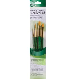 PRINCETON PRINCETON REALVALUE BRUSH SET NO. 9116 SH GOLD TAKLON