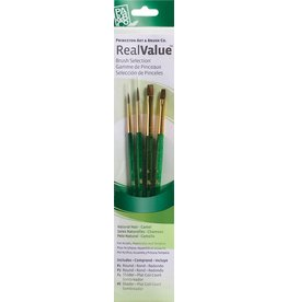 PRINCETON PRINCETON REALVALUE BRUSH SET NO. 9110 SH NATURAL CAMEL