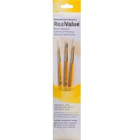 PRINCETON PRINCETON REALVALUE BRUSH SET NO. 9105 SH NATURAL SABLE