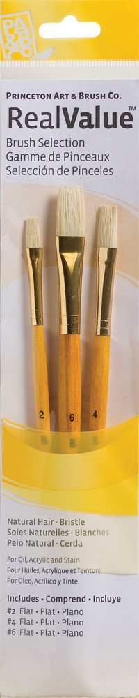 PRINCETON PRINCETON REALVALUE BRUSH SET NO. 9104 SH NATURAL BRISTLE