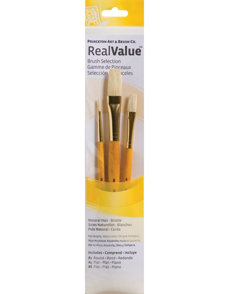 PRINCETON PRINCETON REALVALUE BRUSH SET NO. 9103 SH NATURAL BRISTLE