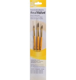PRINCETON PRINCETON REALVALUE BRUSH SET NO. 9100 SH NATURAL CAMEL