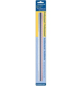 STAEDTLER STAEDTLER TRIANGULAR SCALE RULER IMPERIAL    987 18-1 BK