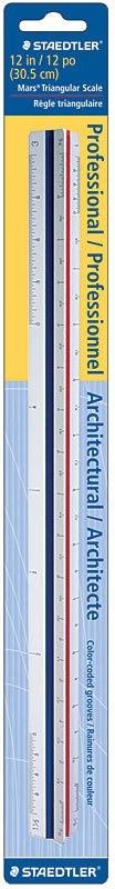 STAEDTLER STAEDTLER TRIANGULAR SCALE RULER IMPERIAL    987 18-1 BK