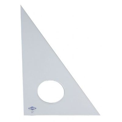 ALVIN ALVIN TRIANGLE 30/60 12 INCH CLEAR