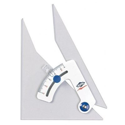 ALVIN ALVIN ADJUSTABLE TRIANGLE 12 INCH WITH INKING EDGE