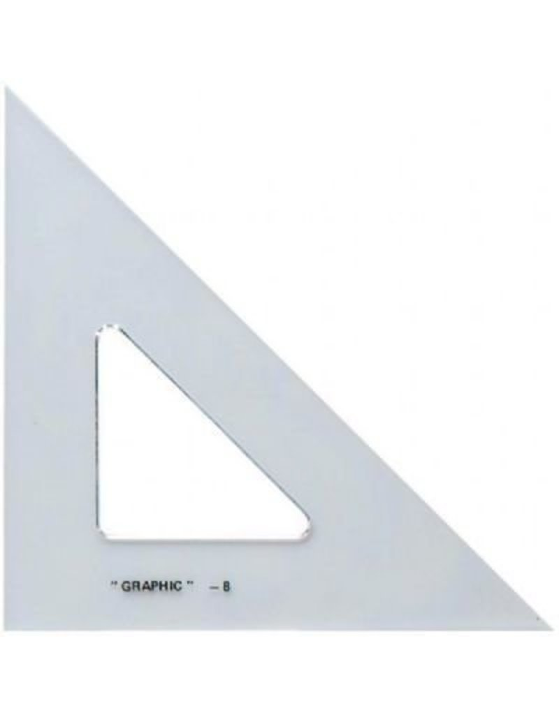 ALVIN ALVIN ACADEMIC TRIANGLE 30/60 8 INCH CLEAR