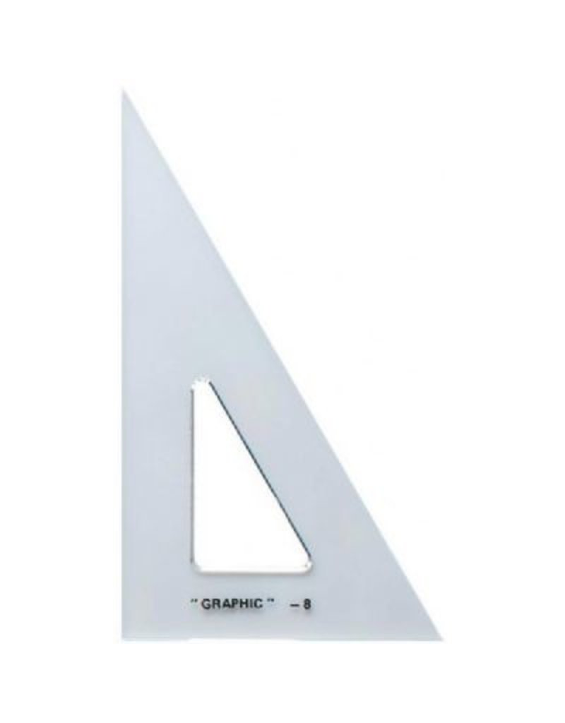 ALVIN ALVIN ACADEMIC TRIANGLE 30/60 12 INCH CLEAR