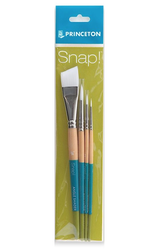 PRINCETON PRINCETON SNAP BRUSH SET SH WHITE SYNTHETIC    9850 SET-3