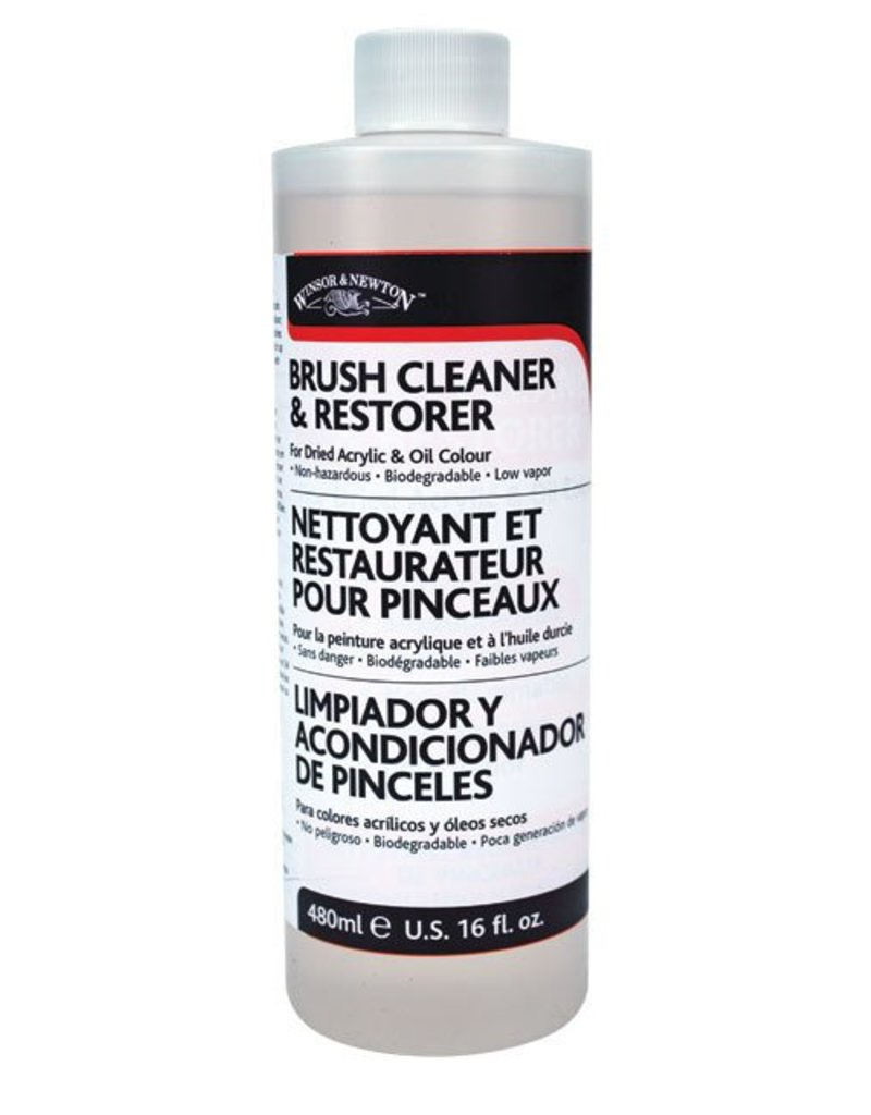 WINSOR NEWTON WINSOR & NEWTON BRUSH CLEANER & RESTORER 16OZ