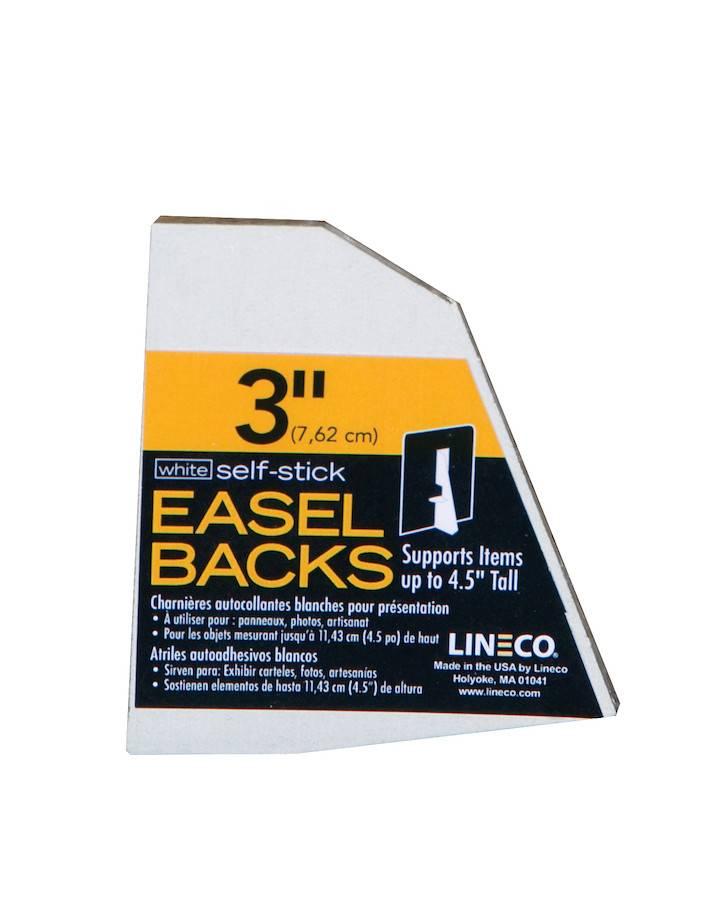 LINECO LINECO SELF-STICK EASEL BACKS WHITE  3 INCH 5/PK