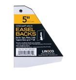 LINECO LINECO SELF-STICK EASEL BACKS WHITE 5 INCH 5/PK