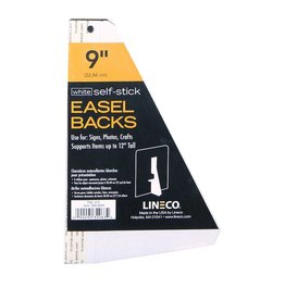 LINECO LINECO SELF-STICK EASEL BACKS WHITE 9 INCH 5/PK
