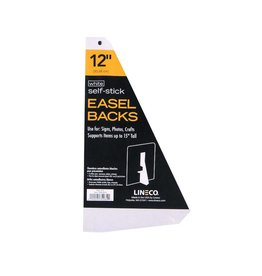 LINECO LINECO SELF-STICK EASEL BACKS WHITE 12 INCH 5/PK