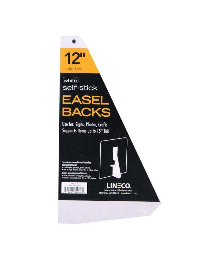 LINECO LINECO SELF-STICK EASEL BACKS WHITE 12 INCH 5/PK