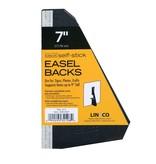LINECO LINECO SELF-STICK EASEL BACKS BLACK 7 INCH 5/PK