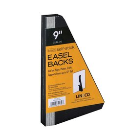 LINECO LINECO SELF-STICK EASEL BACKS BLACK 9 INCH 25/PK