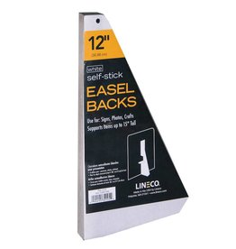 LINECO LINECO SELF-STICK EASEL BACKS WHITE 12 INCH 25/PK